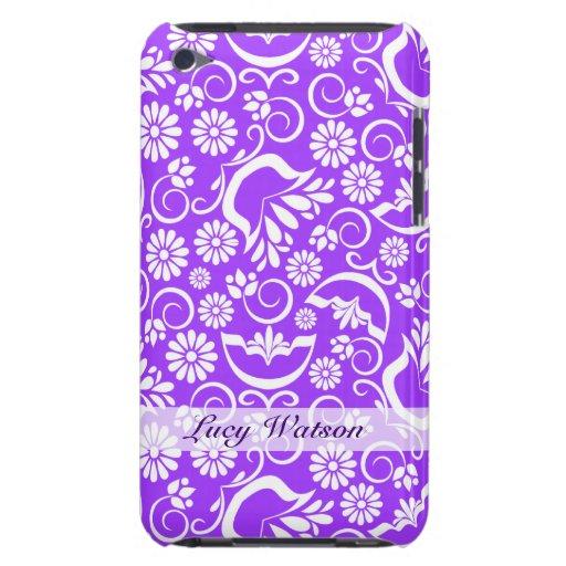 Casamata floral púrpura del tacto de iPod del vint iPod Touch Fundas
