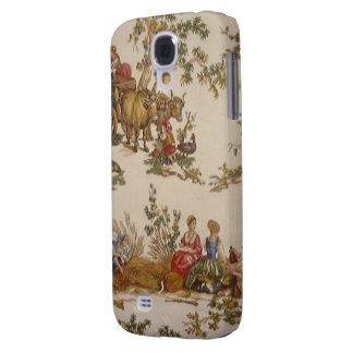 Casamata francesa HTC de Toile del país del vintag Funda Para Galaxy S4