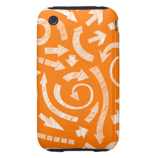 Casamata garabateada naranja del iPhone 3G/3GS de Tough iPhone 3 Cobertura