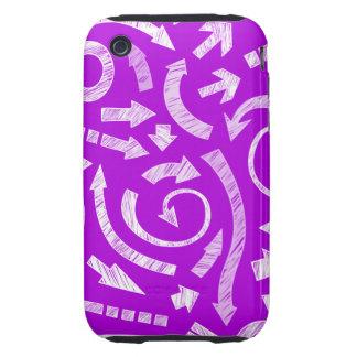 Casamata garabateada púrpura del iPhone 3G/3GS de iPhone 3 Tough Protector