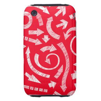 Casamata garabateada rojo del iPhone 3G/3GS de las Tough iPhone 3 Protectores