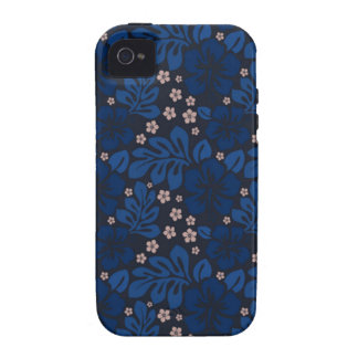 Casamata hawaiana azul de Apple Iphone 4 dura Case-Mate iPhone 4 Funda