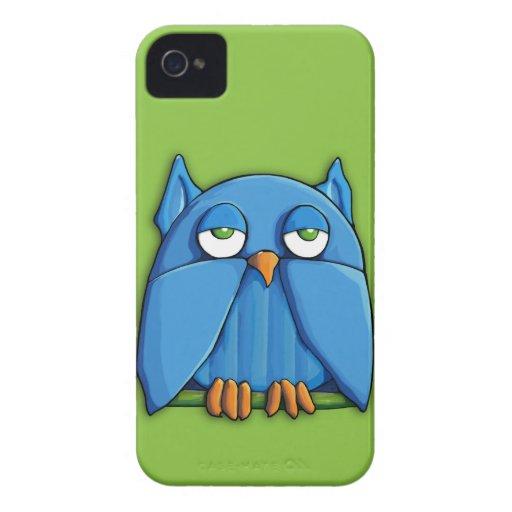 Casamata ID™ del iPhone 4/4S del verde del búho de iPhone 4 Carcasa
