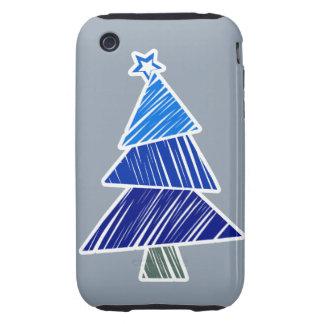 Casamata incompleta azul del árbol de navidad carcasa though para iPhone 3