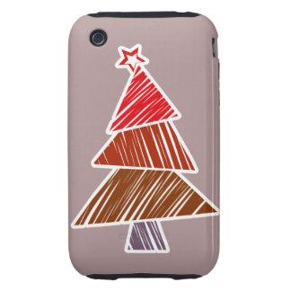 Casamata incompleta roja del árbol de navidad funda though para iPhone 3