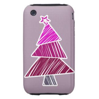 Casamata incompleta rosada del árbol de navidad carcasa resistente para iPhone
