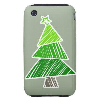 Casamata incompleta verde del árbol de navidad carcasa though para iPhone 3