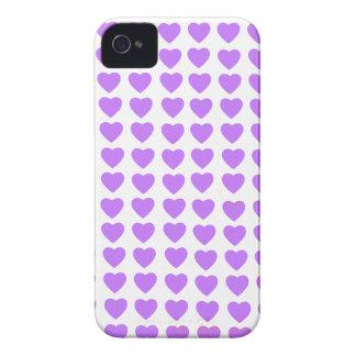 Casamata intrépida de Blackberry de los corazones iPhone 4 Fundas
