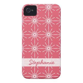 Casamata intrépida rosada de Starburst Blackberry iPhone 4 Case-Mate Protector