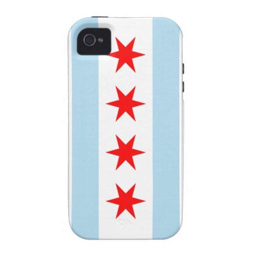 Casamata Iphone duro 4 de la bandera de Chicago iPhone 4 Carcasas