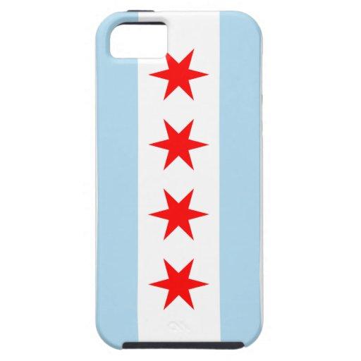 Casamata Iphone duro 5 de la bandera de Chicago iPhone 5 Case-Mate Fundas