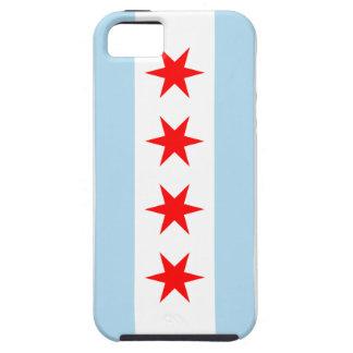 Casamata Iphone duro 5 de la bandera de Chicago iPhone 5 Carcasa