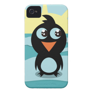 Casamata linda Barely There del iPhone 4 del pingü iPhone 4 Fundas