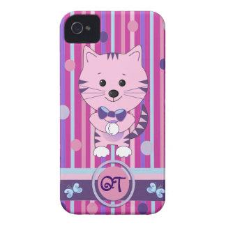 Casamata linda del iPhone 4/4S con el gato y el Case-Mate iPhone 4 Fundas