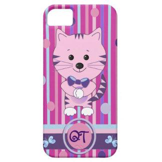 Casamata linda del iPhone 5 con el gato y el Funda Para iPhone 5 Barely There