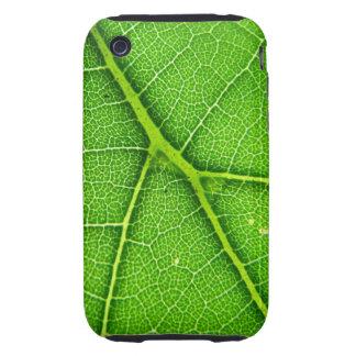 Casamata macra del iPhone 3G/3GS de la hoja verde Tough iPhone 3 Protectores