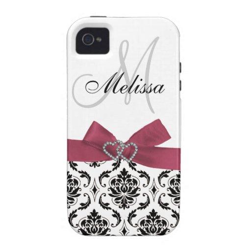 Casamata negra personalizada del iPhone 4 del rosa iPhone 4 Funda
