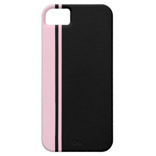 Casamata negra rosada del iPhone 5 de n iPhone 5 Funda