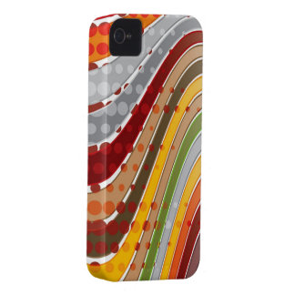 Casamata ondulada retra del iPhone 4 de las rayas Case-Mate iPhone 4 Protectores