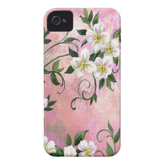 Casamata plástica 4 del iPhone de los flores iPhone 4 Case-Mate Protectores