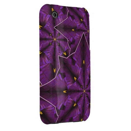 Casamata púrpura de la mandala iPhone3 del pétalo  Case-Mate iPhone 3 Funda