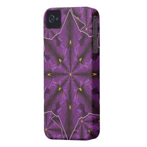 Casamata púrpura de la mandala iPhone4 del pétalo Carcasa Para iPhone 4