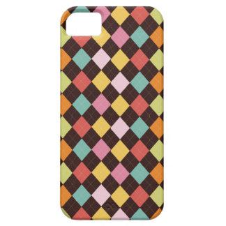 Casamata retra colorida del modelo del argyle dia iPhone 5 Case-Mate cárcasa