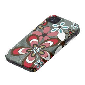 Casamata retra del iPhone 4 del flower power del iPhone 4 Case-Mate Carcasas