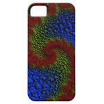 Casamata roja del fractal de la onda iPhone 5 Case-Mate cobertura