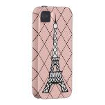 Casamata rosada del iPhone 4 de la torre Eiffel iPhone 4 Carcasas