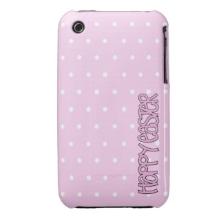 Casamata rosada feliz del iPhone 3G 3GS de Pascua iPhone 3 Case-Mate Fundas