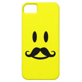 Casamata sonriente del iPhone 5 del bigote feliz iPhone 5 Carcasas