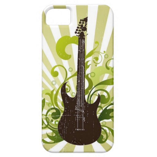 Casamata subrayada de Iphone 5 de la guitarra iPhone 5 Funda