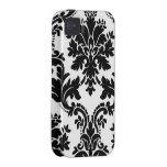 Casamata Tough™ del damasco de Elegante Case-Mate iPhone 4 Carcasa