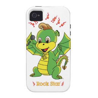 Casamata Tough™ del iPhone 4 de Rockstar™ del drag Case-Mate iPhone 4 Fundas