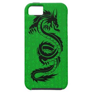 Casamata Tough™ del iPhone 5 del dragón verde iPhone 5 Cárcasas
