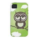 Casamata verde del iPhone 4 del búho dura Vibe iPhone 4 Carcasa