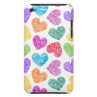 Casamata vibrante del tacto de iPod de los corazon Case-Mate iPod Touch Cobertura