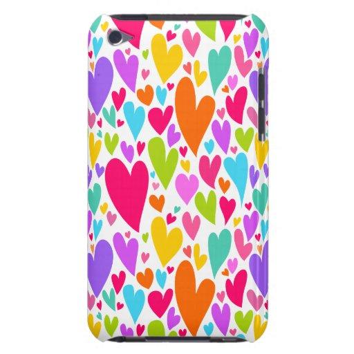 Casamata vibrante del tacto de iPod de los corazon iPod Touch Carcasa