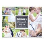 Casamento Collage riscado cartões de agradecimento Invitacion Personal