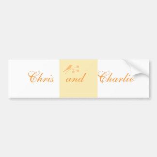 Casando ceremonia inmóvil y civil modifique para r etiqueta de parachoque