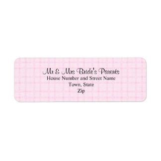 Casando diseño en pálido - control rosado y texto  etiquetas de remite