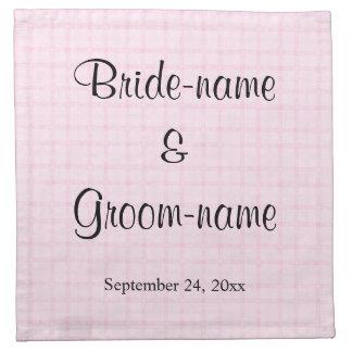Casando diseño en pálido - control rosado y texto  servilletas de papel