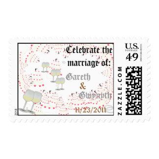 Casando el sello (remolino del boda)