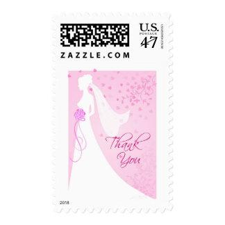 Casando la ducha gracias - franqueo nupcial timbres postales