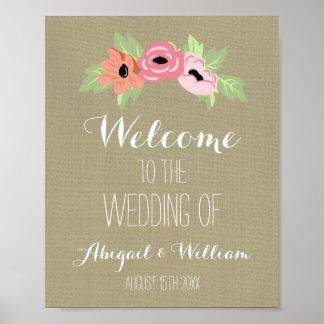Casando la primavera de encargo agradable de la póster