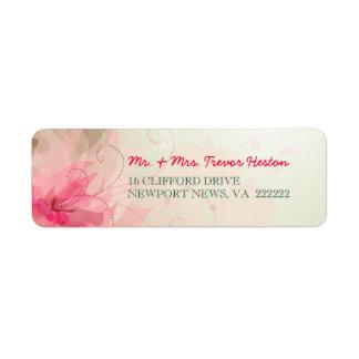 Casando las etiquetas del remite - floral abstract etiqueta de remite