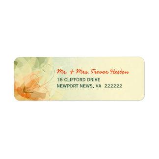 Casando las etiquetas del remite - floral abstract etiquetas de remite