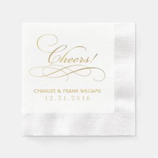 Casando las servilletas el | las alegrías crean servilleta desechable