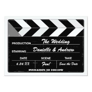 Casando reserva el tablero de la palmada de la invitación 12,7 x 17,8 cm